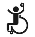 man in wheelchair icon simple style vector image