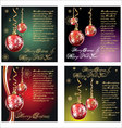 merry-christmas-background set vector image vector image