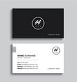 minimal business card print template design black vector image vector image