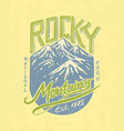 mountains logo camping label trip in the vector image vector image