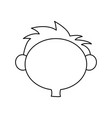 outline head boy little hair style vector image vector image