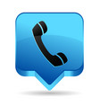 phone blue icon vector image