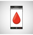 phone online health blood donor vector image vector image