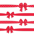 Red bows with ribbons vector image