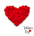 red valentines day greeting card of heart balloon vector image vector image
