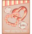 retro postcard to valentines day vector image vector image
