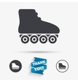 Roller skates sign icon Rollerblades symbol vector image