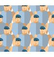 Russian military VDV Strong Soldiers in blue vector image vector image