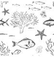 Sea life pattern vector image vector image
