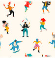 seamless pattern with funny dancing men and vector image vector image