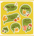 seasonal sale green stickers set vector image vector image