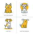 set icons and signs in trendy linear style vector image vector image