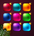 Set of colorful Christmas balls stylized like vector image vector image