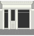 Shopfront with Black Windows Light Store Facade vector image vector image