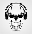 Skull With Headphones vector image vector image