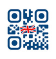 smartphone readable qr code with uk flag icon vector image vector image