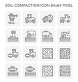 soil compaction icon vector image vector image