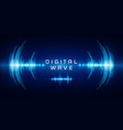 sound waves oscillating glow light digital wave vector image