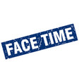 square grunge blue face time stamp vector image vector image