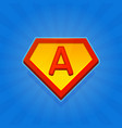 superhero logo icon with letter a on blue vector image vector image