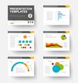 template for presentation slides 2 vector image vector image