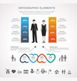 valentines day infographics design vector image
