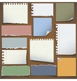 Various notes paper vector image vector image