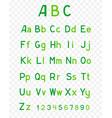 abc green alphabet vector image