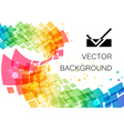 Colored abstract technology geometric curve vector image
