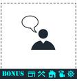 Dialog icon flat vector image