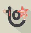 10 Years Anniversary Typography Design Illu vector image