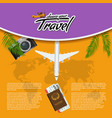 3d realistic travel and tour creative vector image