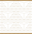 abstract geometric 3d grid seamless pattern gold vector image vector image