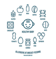 Allergens at breast feeding icons set vector image vector image