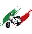 an italian scooter with vector image