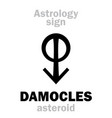 astrology asteroid damocles vector image vector image