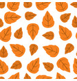 autumn leaves pattern seamless vector image