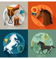 Backgrounds with horse equipment in flat style vector image vector image
