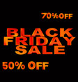 black friday sale template black friday vector image