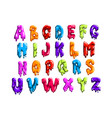bright-colored latin alphabet made of sweet jelly vector image vector image
