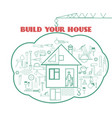 build your house vector image