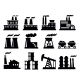 building factory icon vector image vector image
