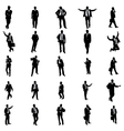 Business people silhouette set vector image vector image