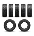 car wheel tires or tyres 3d spare parts vector image