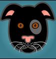 Cartoon black dog vector image vector image