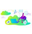 cartoon character for web design presentation vector image