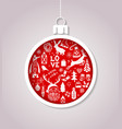 christmas ball made of paper vector image