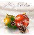 christmas balls vector image vector image