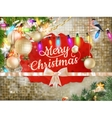 Christmas decoration background EPS 10 vector image vector image