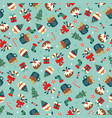christmas seamless pattern dense and ditsy style vector image